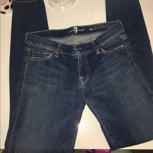 EUC SZ 26  7 FOR ALL MANKIND THE SKINNY JEAN